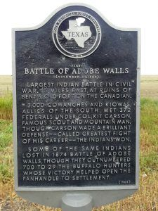 Adobe Walls Historic Marker