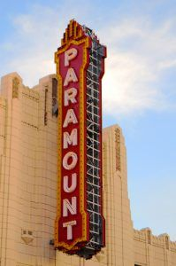 Paramount Sign in downtown Amarillo, Texas by Kathy Weiser-Alexander.