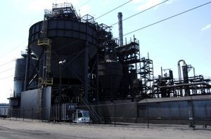Carbon Black Plant in Bunavista, Texas by Kathy Weiser-Alexander.
