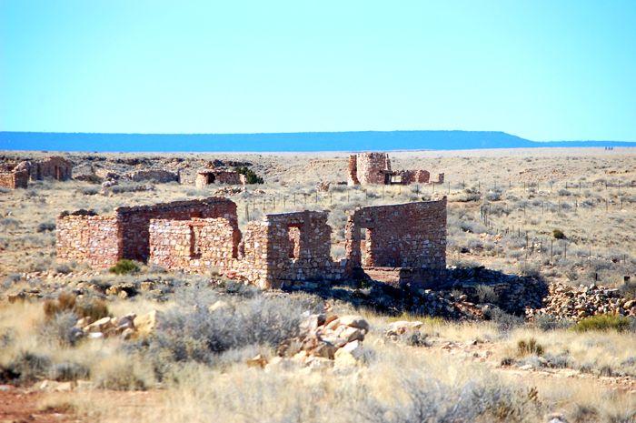Ruins at Two Guns, Arizona by Dave Alexander.