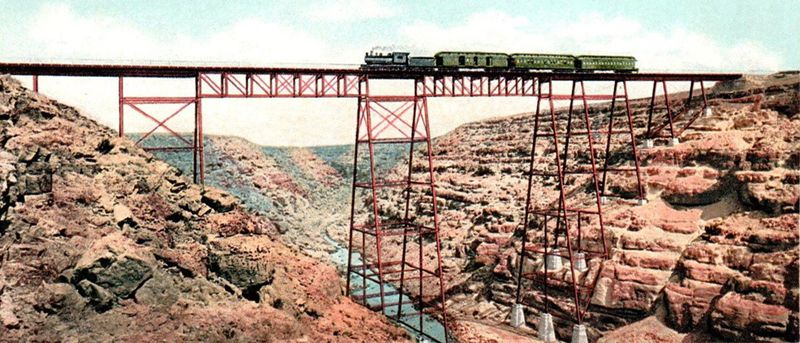 Canyon Diablo, Arizoona Railroad Bridge by Detroit Publishing, 1906.
