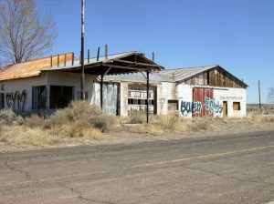 An old gas station in Chambers, Arizona by Jay Gannett, Flickr