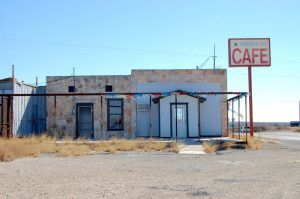 Cafe in Comstock, Texas by Kathy Weiser-Alexander.