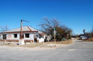 An abandoned gas station in Comstock, Texas by Kathy Weiser-Alexander.