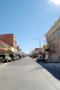 Main Street in Del Rio, Texas by Kathy Weiser-Alexander.