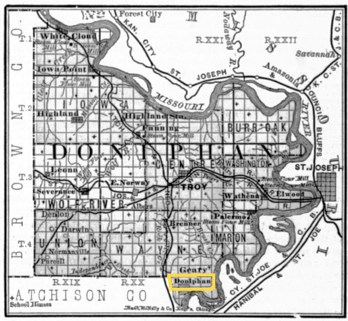Doniphan County, Kansas Historic Map
