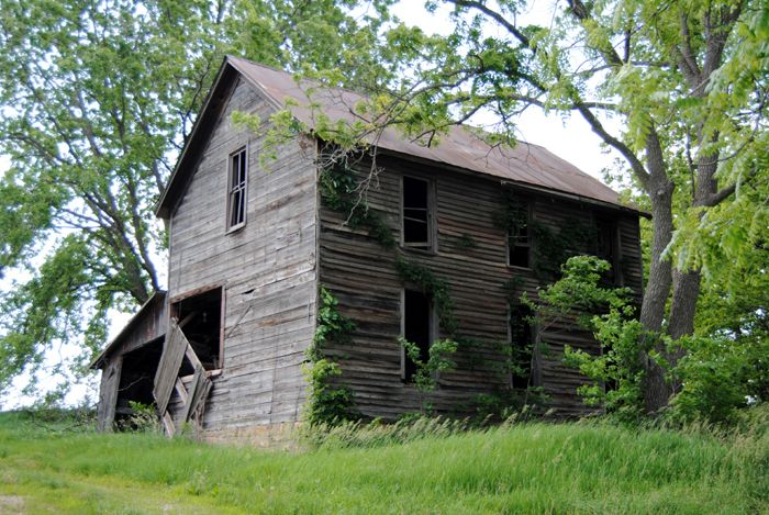 The Jacob Brenner House still stands in Doniphan, Kansas by Kathy Weiser-Alexander.