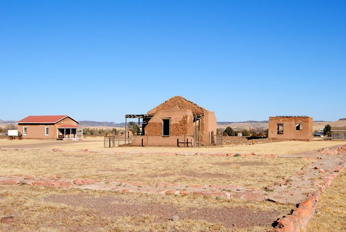 Old buildings at Fort Davis, Texas by Kathy Weiser-Alexander.