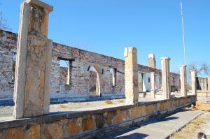 Ruins of the Infantry Barracks at Fort Duncan, Texas by Kathy Weiser-Alexander.