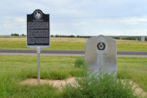 Fort Elliott Historic Markers in Mobeetie, Texas by Kathy Weiser-Alexander.