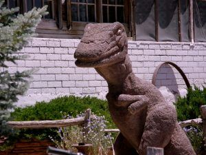 Dinosaur at Grand Canyon Caverns by Judy Hinkley.