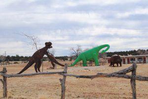 Dinosaurs at Grand Canyon Caverns, Arizona by Kathy Weiser-Alexander.