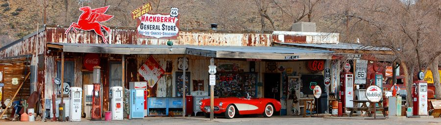 Hackberry, Arizona General Store and Visitor's Center by Dave Alexander.