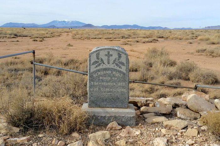 Hermann Wolf Grave at Canyon Diablo, Arizona. Photo by William Ascarza, courtesy Tucson.com