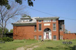 Old District 44 School in Huron, Kansas by Kathy Weiser-Alexander.