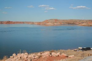 Lake Meredith, Texas is rebounding today, photo by the National Park Service.