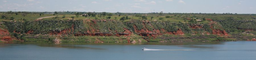 Lake Meredith in Hutchinson County, Texas, by the National Park Service.