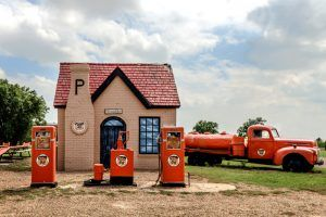 Restored Phillips 66 Station in McLean, Texas by Carol Highsmith.