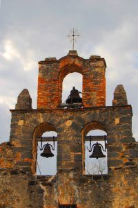 Mission Espada Church Bells, San Antonio, Texas by Kathy Weiser-Alexander.