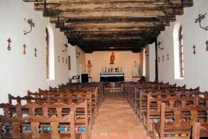 Mission Espada Church Interior by Karhy Weiser-Alexander