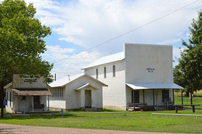Buildings in Old Mobeetie today by Kathy Weiser-Alexander.