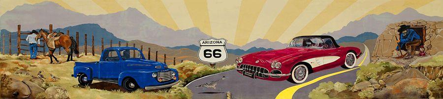 Mural at the Kingman, Arizona Museum.