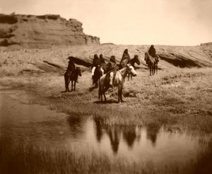 Navajo at Oasis, by Edward S. Curtis, 1904.