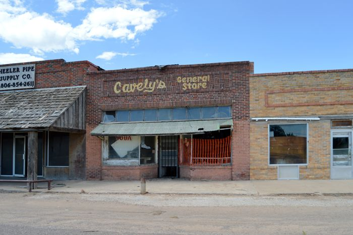 """""""New Mobeetie"""", Texas is mostly a ghost town today too, by Kathy Weiser-Alexander."""
