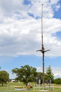 The flag pole from Fort Elliott continues to stand in Old Mobeetie, Texas by Kathy Weiser-Alexander.
