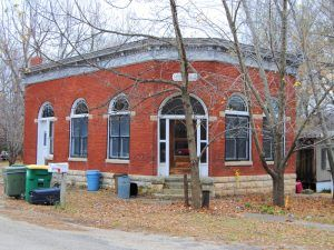The old bank in Parkerville is long closed by Kathy Weiser-Alexander.