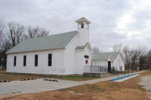 The church in Parkerville is the only thing open today by Kathy Weiser-Alexander.
