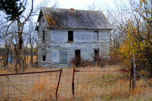 An old house near Parkerville, Kansas by Kathy Weiser-Alexander.