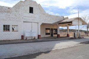 An old gas station in Peach Springs, Arizona by Kathy Weiser-Alexander.