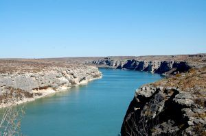 The Pecos River near Langtry, Texas by Kathy Weiser-Alexander.