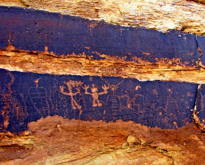 Petroglyphs in the Petrified Forest of Arizona by the National Park Service.