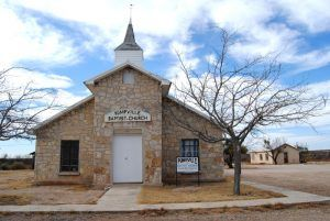 Baptist Church in Pumpville, Texas by Kathy Weiser-Alexander.