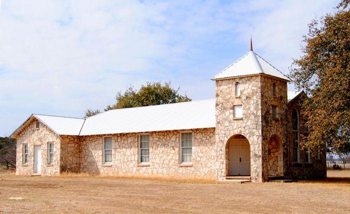 Presbyterian Church in Roosevelt, Texas by Kathy Weiser-Alexander.