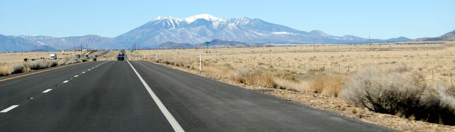 Route 66 west of Two Guns, Arizona by Kathy Weiser-Alexander.