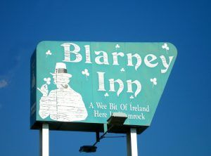 The Blarney Inn sign in Shamrock, Texas by Kathy Weiser-Alexander.