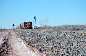 The railroad near Sun Valley, Arizona by Kathy Weiser-Alexander.