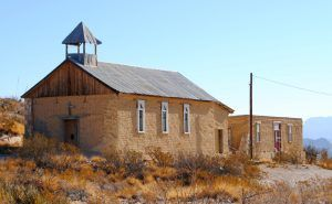 Old church in the ghost town of Terlingua, Texas by Kathy Weiser-Alexander.