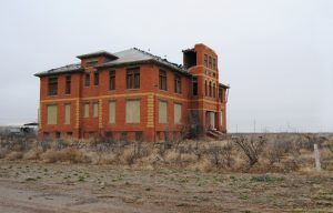 Old High School in Toyah, Texas by Kathy Weiser-Alexander