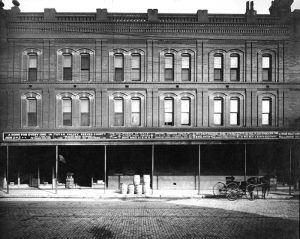 Land Company Building in Toyah, Texas, 1890s.