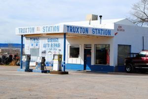 Truxton Gas Station on Route 66 by Kathy Weiser-Alexander.