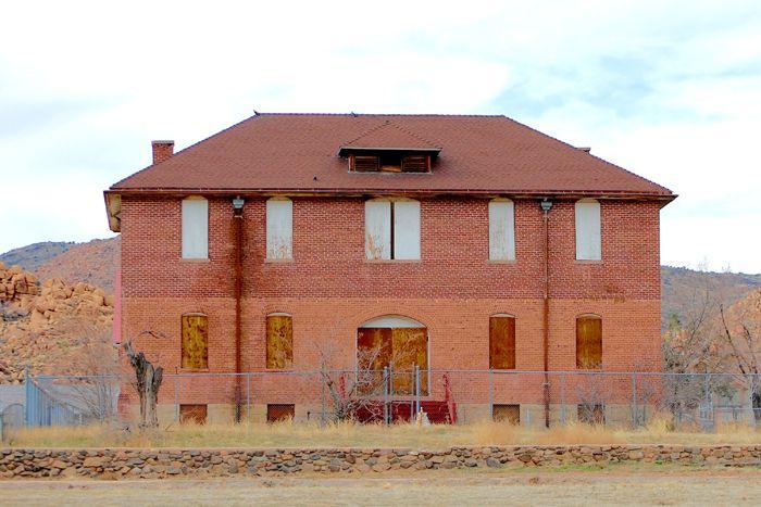 Indian Training School in Valentine, Arizona by Kathy Weiser-Alexander.