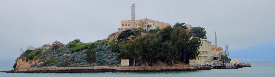 Alcatraz Island in San Francisco, California Bay by Kathy Weiser-Alexander.