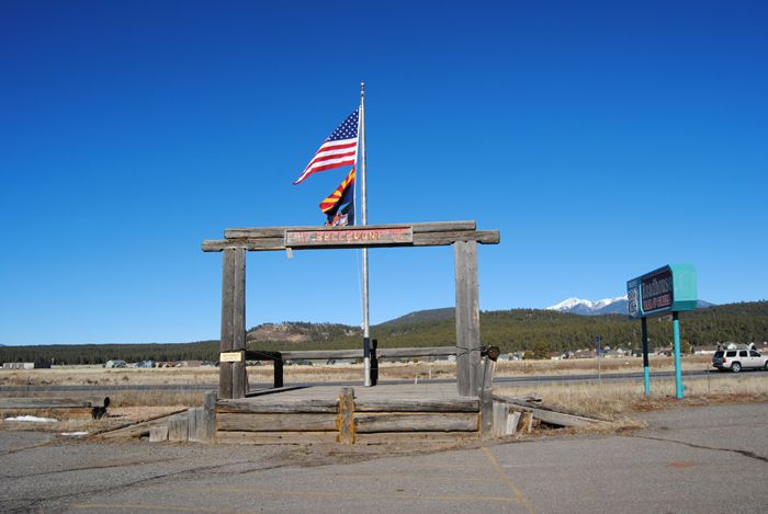 Welcome to Bellemont, Arizona by Kathy Weiser-Alexander.