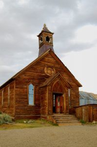 Methodist Church in Bodie, California by Kathy Weiser-Alexander.
