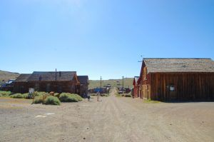 A street in Bodie, California today by Kathy Weiser-Alexander.