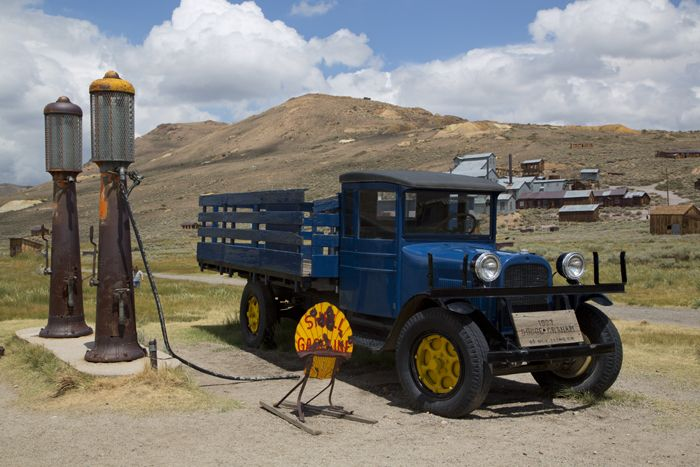 Gas pumps in Bodie, California by Carol Highsmith.